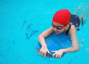 Swiming child